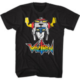 Voltron Voltron Head Black Adult T-Shirt
