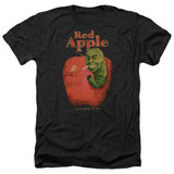 Pulp Fiction Red Apple Adult Heather T-Shirt Black Clearance