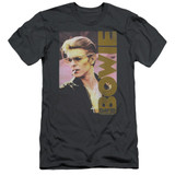 David Bowie Smokin S/S Adult 30/1 T-Shirt Charcoal Clearance