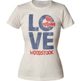 Woodstock Love Junior Women's Crew T-Shirt Clearance
