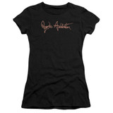 Jane's Addiction Script Logo Junior Women's Sheer T-Shirt Black Clearance