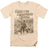 Creedence Clearwater Revival Born To Move 18/1 T-Shirt Cream