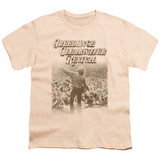 Creedence Clearwater Revival Born To Move Youth 18/1 T-Shirt Cream