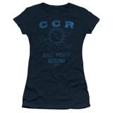 Creedence Clearwater Revival Rising Junior Women's T-Shirt Sheer Navy