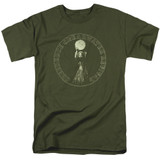 Creedence Clearwater Revival Mardi Gras 18/1 T-Shirt Military Green