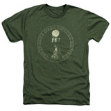 Creedence Clearwater Revival Mardi Gras T-Shirt Heather Military Green
