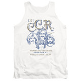 Creedence Clearwater Revival Sketch Poster Tank Top White