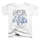 Creedence Clearwater Revival Sketch Poster Toddler T-Shirt White