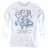 Creedence Clearwater Revival Sketch Poster Youth Long Sleeve T-Shirt White