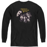 Creedence Clearwater Revival Pendulum Faces Youth Long Sleeve T-Shirt Black
