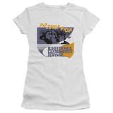 Creedence Clearwater Revival Around The Bend Kanji Junior Women's T-Shirt Sheer White