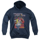 Transformers Optimus Prime Youth Pullover Hoodie Sweatshirt Navy