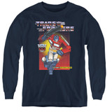 Transformers Optimus Prime Youth Long Sleeve T-Shirt Navy