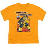 Transformers Bumblebee Youth T-Shirt Gold