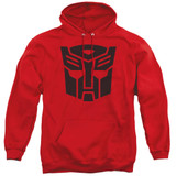 Transformers Autobot Adult Pullover Hoodie Sweatshirt Red