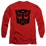 Transformers Autobot Adult Long Sleeve T-Shirt Red
