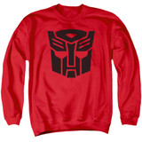 Transformers Autobot Adult Crewneck Sweatshirt Red