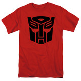 Transformers Autobot Adult 18/1 T-Shirt Red
