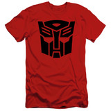Transformers Autobot Adult 30/1 T-Shirt Red