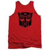 Transformers Autobot Adult Tank Top T-Shirt Red