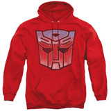 Transformers Vintage Autobot Logo Adult Pullover Hoodie Sweatshirt Red