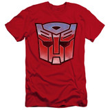 Transformers Vintage Autobot Logo Premium Adult 30/1 T-Shirt Red