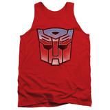 Transformers Vintage Autobot Logo Adult Tank Top T-Shirt Red