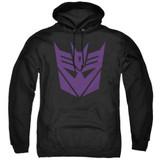 Transformers Decepticon Adult Pullover Hoodie Sweatshirt Black