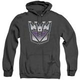 Transformers Decepticon Airbrush Logo Adult Heather Hoodie Sweatshirt Black