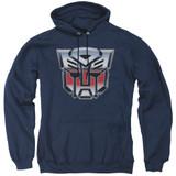 Transformers Autobot Airbrush Logo Adult Pullover Hoodie Sweatshirt Navy