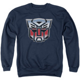 Transformers Autobot Airbrush Logo Adult Crewneck Sweatshirt Navy