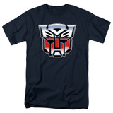 Transformers Autobot Airbrush Logo Adult 18/1 T-Shirt Navy