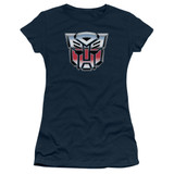 Transformers Autobot Airbrush Logo Junior Women's T-Shirt Navy