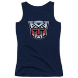 Transformers Autobot Airbrush Logo Junior Women's Tank Top T-Shirt Navy