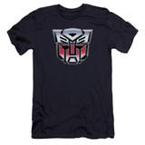 Transformers Autobot Airbrush Logo Premium Adult 30/1 T-Shirt Navy