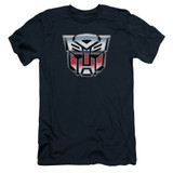 Transformers Autobot Airbrush Logo Adult 30/1 T-Shirt Navy