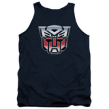 Transformers Autobot Airbrush Logo Adult Tank Top T-Shirt Navy