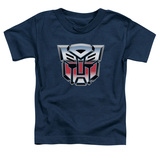Transformers Autobot Airbrush Logo Toddler T-Shirt Navy