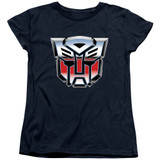 Transformers Autobot Airbrush Logo Women's T-Shirt Navy