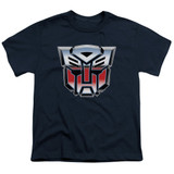 Transformers Autobot Airbrush Logo Youth T-Shirt Navy