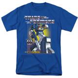 Transformers Soundwave Adult 18/1 T-Shirt Royal Blue