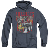 Transformers Autobot Collage Adult Heather Hoodie Sweatshirt Navy