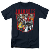 Transformers Autobot Collage Adult 18/1 T-Shirt Navy