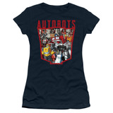 Transformers Autobot Collage Junior Women's T-Shirt Navy