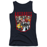 Transformers Autobot Collage Junior Women's Tank Top T-Shirt Navy