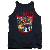 Transformers Autobot Collage Adult Tank Top T-Shirt Navy