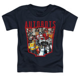 Transformers Autobot Collage Toddler T-Shirt Navy