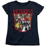 Transformers Autobot Collage Women's T-Shirt Navy