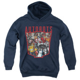 Transformers Autobot Collage Youth Pullover Hoodie Sweatshirt Navy