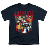 Transformers Autobot Collage Youth T-Shirt Navy